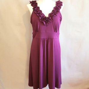 Ruffle Pink Raspberry Dress holiday sz MED